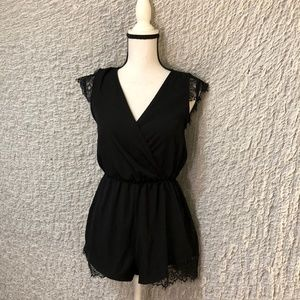 Urban Outfitters Classy Black Lace Romper